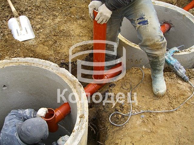 Канализация в частном доме из бетонных колец своими руками 65